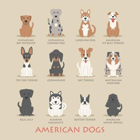 American dog breeds are made in America, usually the USA.