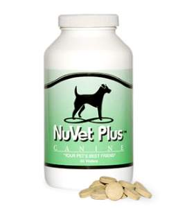 NuVet Plus Wafers and Powder, human grade, for your pet's health.