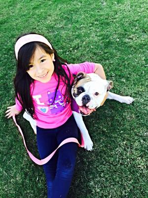 My daughter with Lola